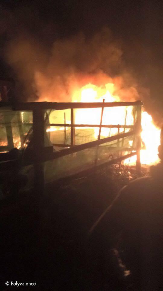 Une caravane a brûlé pendant la nuit du 1er au 2 mars.